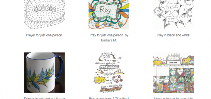 Some examples from Praying in Color - a great way for kids to come up with simple prayers using drawing.