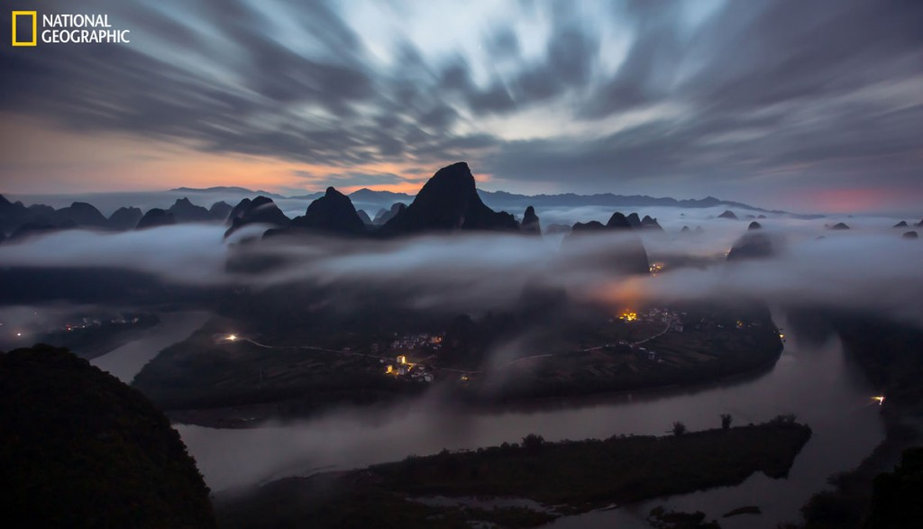 Photo and caption by Tianyuan Xiao / 2016 National Geographic Nature Photographer of the Year   Quiet morning after raining for whole night in Xingping, Yangshuo.